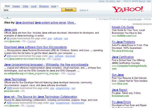 Yahoo & Delicious