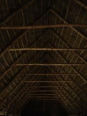 Le toit des granges de Machu Picchu