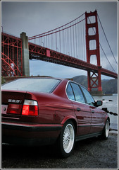 The Calypso 056 copy (davidbushphoto.com) Tags: goldengatebridge bmw fortpoint calypso e34 525i