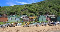 bulgar huts (jad.e) Tags: old trees beach colors beauty relax boats sand paradise huts nsw bulgar justjade jadeann