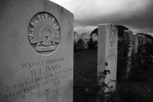 Kranji War Cemetry - Sgt W.L Innes