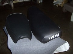 Yamaha Seats Re-Covered (BatzAuto.com Batz Auto Upholstery in Los Angeles) Tags: auto los angeles since 1989 serving upholstery batz motorcycleseat batzautoupholsteryinlosangeles autoupholsteryinlosangeles batzautoupholstery batzautocom motorcycleseats miguelbatz