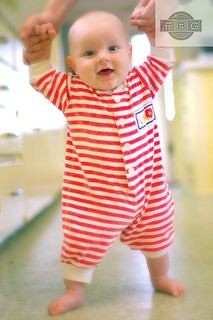 cute baby standing