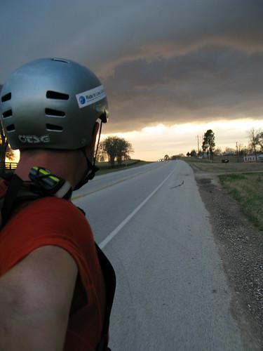 Stormclouds nearing Navasota, Texas, USA
