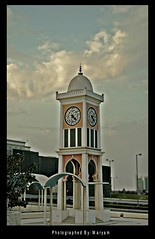clock tower(al sa'a tower)    (Maryam) Tags: life sky tower clock canon al hdr saa maryam qatar  qtr  400d