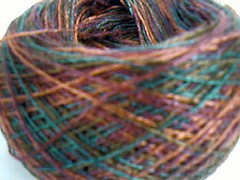 Another view of the tencel yarn, Painted Desert colorway