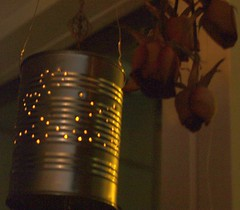 Your tin can lantern might look like this. Photo by Elin B.