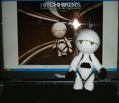 Marvin - The Hitchhikers Guide to the Galaxy II (Froschprinzessin) Tags: galaxy guide amigurumi marvin the hitchikers
