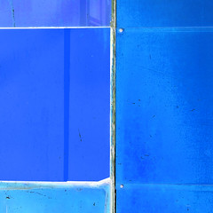 blue inversion (barbera*) Tags: blue reflection lines wall screws decay dirt tiles seal crooked grout 9749111