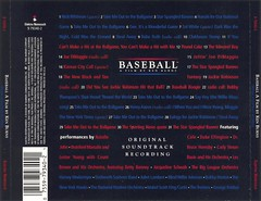 Baseball: A Film By Ken Burns soundtrack [rear insert](1994)