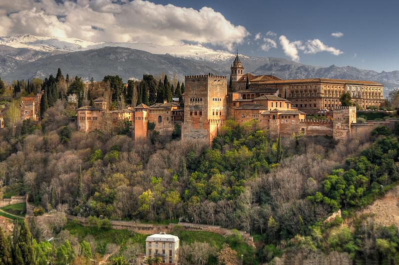 La Alhambra, the red fortress.