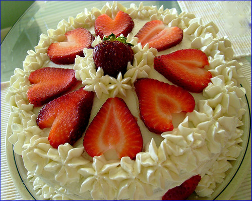 Lemon Strawberry Birthday Cakes