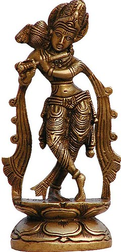 Collectible-Figurines Hindu Religious Statue Brass Sculpture Lord Krishna Shalincraft