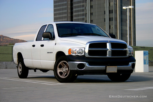 city roof white building cab quad dodge ram