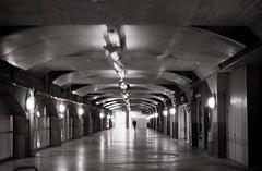 Underground Walkway Under Union Station (Bill Smith1) Tags: earlymorning ilfordhp5 olympusom1 downtowntoronto id1111 zuiko5014lens