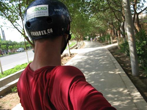 Rolling into Turpan, Xinjiang Province, China