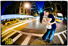 Time Flies (Ryan Brenizer) Tags: nyc newyorkcity wedding engagement nikon manhattan september gothamist 2008 d3 topf400 105mmf28gfisheye julieandjason