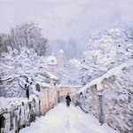 IMG_6524 Alfred Sisley  1839-1899. Paris. La neige à Louveciennes.  The snow in Louveciennes.  Paris Orsay thumbnail