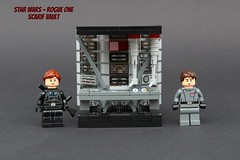 Rogue One - Scarif vault (noggy85) Tags: lego moc starwars rogueone cassianandor jynerso scarif datachamber citadelltower datenkammer plans pläne todesstern deathstar grau gray imperial black schwarz