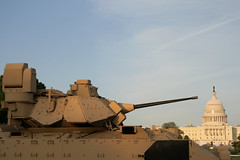 M3A3 Bradley Armored Fighting Vehicle with the Capitol Building (AlbinoFlea) Tags: building mall army dc washington capitol bradley vehicle dcist fighting armored psrw publicservicerecognitionweek m3a3 capitol360270º