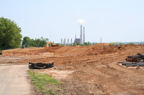 The Harrodsburg water treatment plant construction site