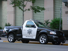 SDSO Ford Lightning (So Cal Metro) Tags: california blackandwhite ford cops sandiego police pickup f150 policecar lightning sheriff fordtruck paintedcar svt recruiting copcar builtfordtough sdso sheriffsdept fordvehicle coolcopcar