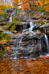 Dark Hollow Falls - Shenandoah National Park (Dwood Photography) Tags: park autumn fall water leaves dark waterfall october rocks falls national shenandoah hollow 2007 naturesfinest vob supershot platinumphoto dwoodphotography dwoodphotographycom