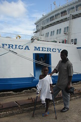 Christian and Anthony in front of the Ship