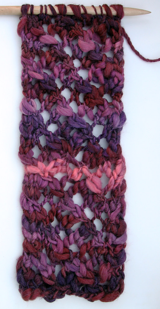 Chunky purple scarf (in progress)