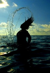 Hair backflip with water (man's pic) Tags: trip indianocean um maldives leena maafushi maldivianphotographer uniquemaldives thatsclassy manspic colourartaward