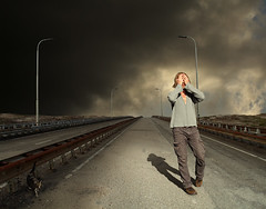 Scary Dreams (Mattijn) Tags: winter danger cat scary highway gloomy ominous dream surreal photomontage nightmare pino mattijn vianen magicrealism bookofdreams