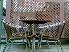 Table for two (Unlisted Sightings) Tags: station ccd chembur cafecoffeeday