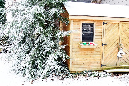 Winter shed.