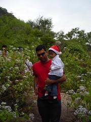 Vineet and his Jr. (aanjhan) Tags: trekking bangalore rappelling rbin ramnagar chimneyclimbing