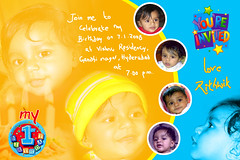 Rithwik B'day (satyakoka) Tags: for 1st invitation bday rithus