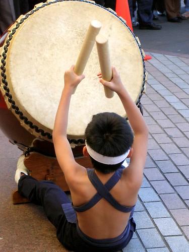 Drumming boy