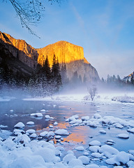 El Capitan's Splendor (Lightchaser) Tags: california winter film nature spectacular landscapes sunsets yosemitenationalpark elcapitan eyecandy trabajar blueribbon fujivelvia naturesfinest goldenglobe transparencyfilm mountainlight allthatglitters bigfave abigfave anawesomeshot superbmasterpiece ithinkthisisart freenature wonderfulphotosfortheworld flickrslegend wetraveltheworld betterthangood phantasticphotogoldaward yo98116 thereissnowanditscoldoutside damniwishidtakenthat thegalleryoffinephotography favtop125