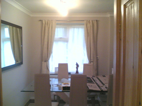 The dining area - after