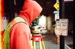 leica surveying instrument (Viv   Seattle Bon Vivant) Tags: test film analog firstframe rangefinder ishootfilm pikeplacemarket filmcamera analogphotography firstroll nopostprocessing olympusxa surveyor scannednegative ferraniasolaris200 vintagefilmcamera leicasurveyinginstrument