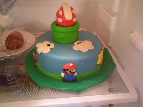 Sabrina made me a mario cake!
