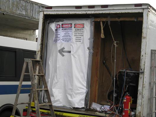 Asbestos Truck Closeup