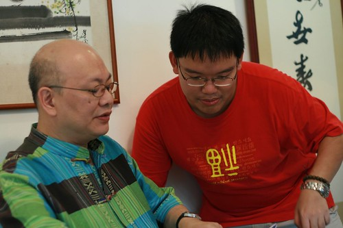 Directing Teck Lai (playing the 1st Uncle)