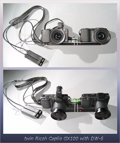 twin GX100+DW-6 for stereo & super wide (2pic panorama)