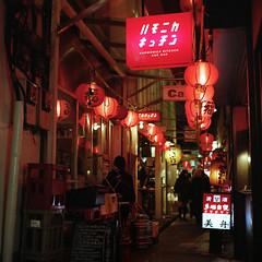 Kichijoji alley. (F_blue) Tags: tokyo kodak hasselblad portra400nc kichijoji 500cm  planart c8028 fblue2008