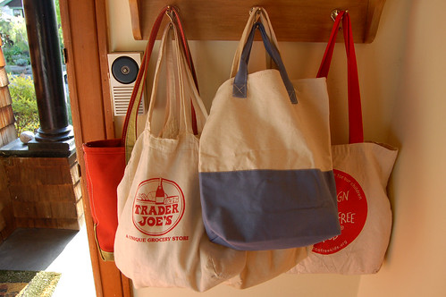 Tote Bags Hanging By The Door