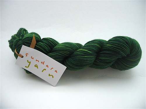 Sundara Evergreen over Lime Sock