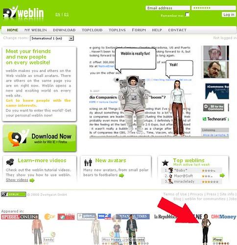 Weblin.com homepage