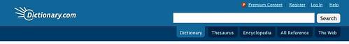 Dictionary.com search bar