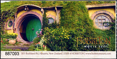 ephemera - Hobbiton entry ticket (Jassy-50) Tags: ephemera hobbiton newzealand entryticket bagend hobbithole northisland theshire lordoftherings lotr thehobbit movieset movie hobbit hinuera