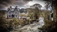 River Afon Llugwy, Betws-y-Coed, Wales (KielTheLegend) Tags: betwsycoed wales unitedkingdom gbr afon llugwy river canal house dark skies cloud cloudy kielthelegend nikon d3200